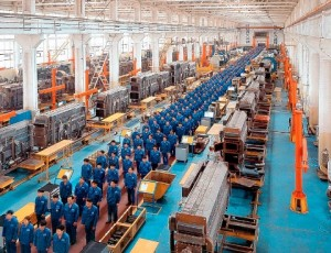 China manufacturing boom is US bust.