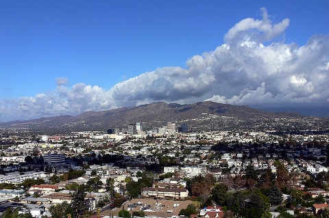 Glandale California and the Verdugo Mountains