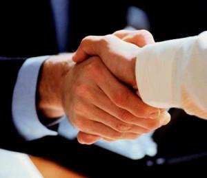 Handshake of a deal.
