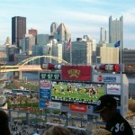 A view of Pittsburgh from the cheap seats