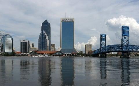 The Jacksonville skyline