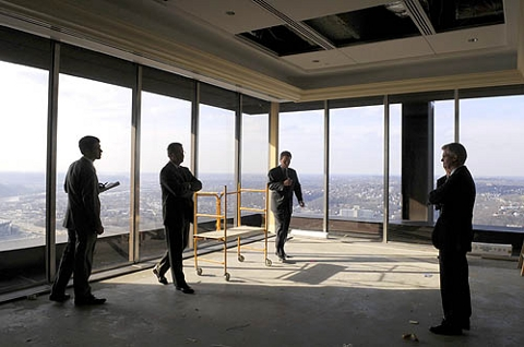 Unfinished office 62nd floor of the US Steel Tower - courtesy Post Gazette