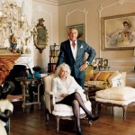 Zsa Zsa Gabor and her ninth (or so) husband, Prince Frédéric von Anhalt, at home in Bel Air