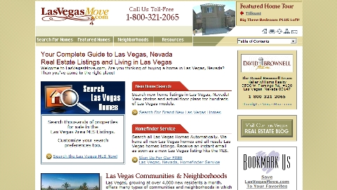 David Brownell's Las Vegas Move site is a waste of Internet
