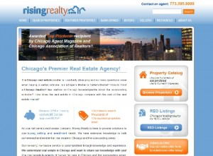 The Rising Real Estate landing