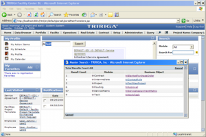 Screenshot of Tririga's building optimization software which attracted IBM