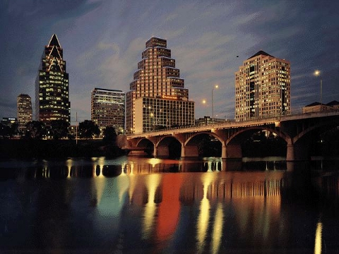 Austin Texas by night