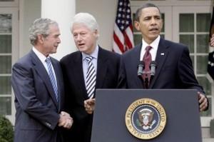 Bush, Clinton, and Obama