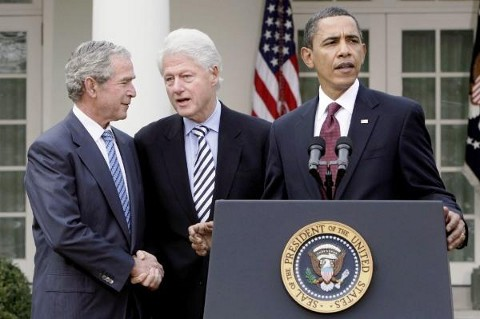 Bush, Clinton, and Obama