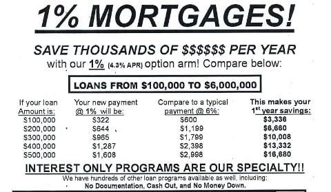 Mortgage scam fax