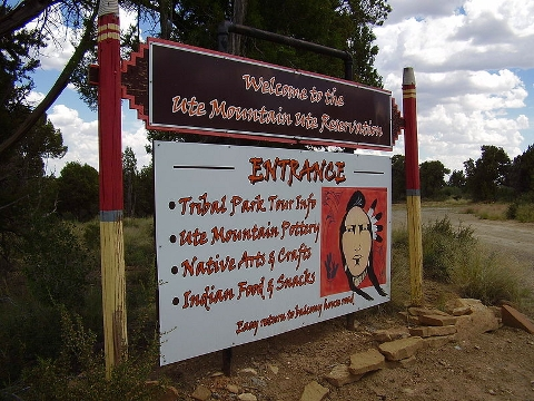 Welcome to one of the Ute reservations