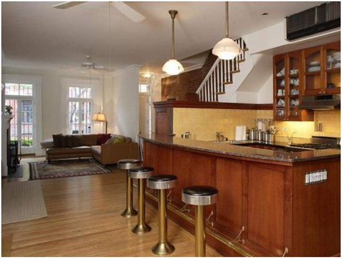 Interior of Daniel Radcliffe's new West Village home