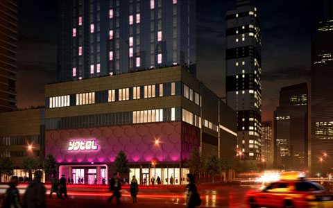 The new Yotel Times Square set to open this July in New York