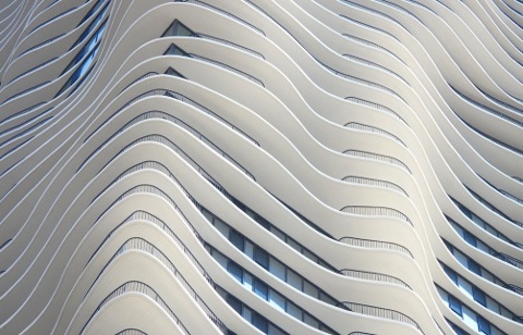 Aqua Tower balconies