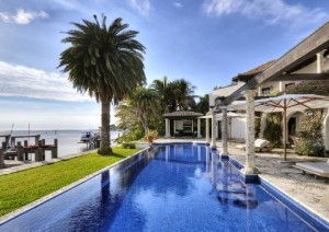 The pool at 3500 Curtis Lane in Coconut Grove