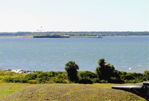Fort Sumter from Fort Moultrie
