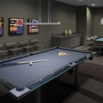 The game room at Aqua Tower
