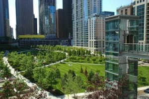 Lakeshore East park area