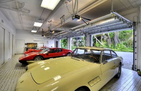 Garage full of Ferarris