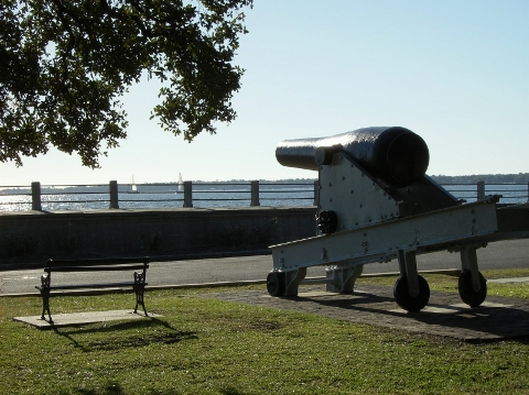 Cannon at White Point Gardens
