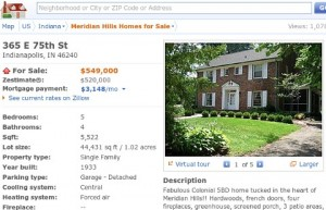 Zillow real estate information