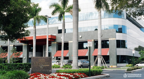 The new Blue Lagoon Drive commercial offices bought by TA Associates Realty