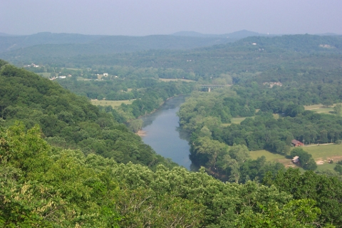 The Ozark Mountains in Arkansas