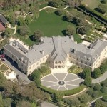 Spelling mansion aerial view
