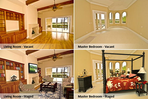 Virtual staging examples