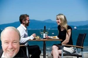 Mashup of John Grasty at Port Moody's Boathouse Restaurant