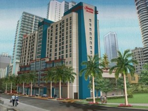 The Hampton Inn & Suites in downtown Miami