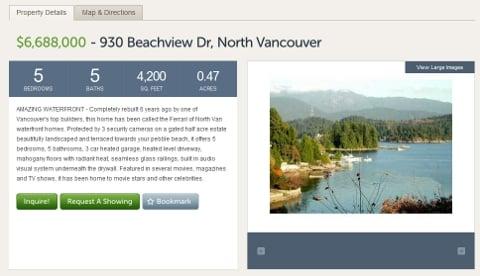 930 Beachview listed at $6.688 million