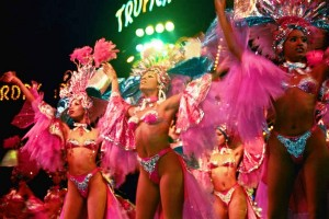 The Tropicana dancers
