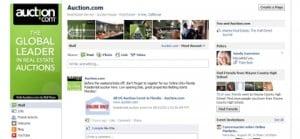 Auction.com Facebook pages