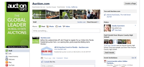 Auction.com Facebook pages