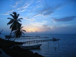 Sunrise over Belize