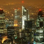 City of London at night
