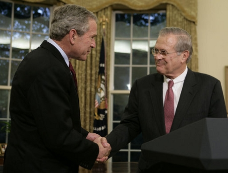 George W. Bush and Donald Rumsfeld.