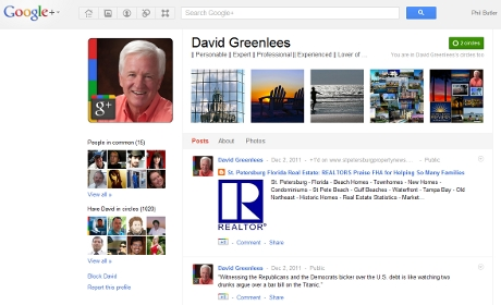 David Greenlees' G+ presence, awesome.