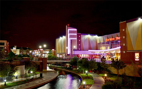 Harkins Theater along the Oklahoma City Bricktown Canal