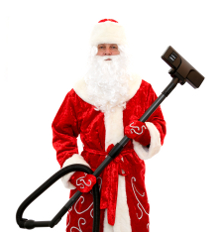 Santa cleaning