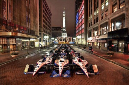 Monument Circle downtown Indianapolis