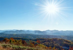 The view from atop Weaverville property