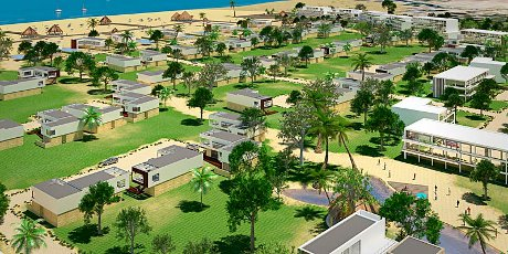 Architectural rendering of Albania resort