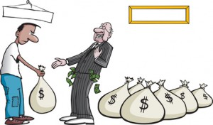 Laughing all the way to the bank - J.P. Morgan Chase, Citigroup, Wells Fargo and Bank Of America © Don Purcell - Fotolia.com