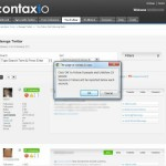 Contaxio user interface