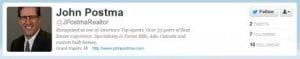 John Postma Twitter engagement