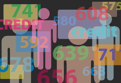 People credit bureau score report card numbers