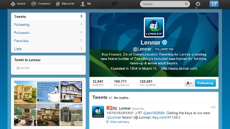 Lennar Top Twitter Feed of September