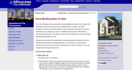 Milwaukee City home selling